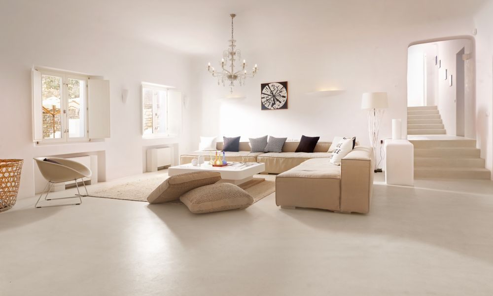 Seamless natural floor venetian plasters by stucco italiano
